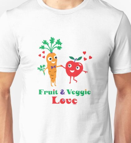 Fruit and Veggie Love Unisex T-Shirt