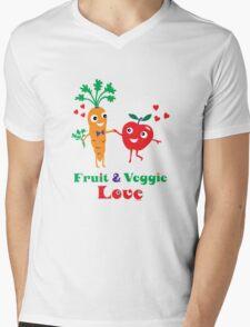 Fruit and Veggie Love Mens V-Neck T-Shirt