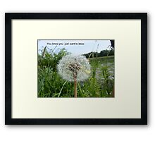 Blow Framed Print