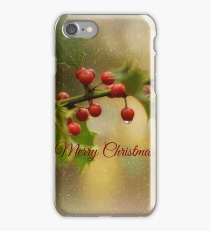 Christmas Holly` iPhone Case/Skin