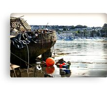 Boats in Penryn Cornwall Canvas Print