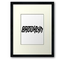 Brooklyn [Black] Framed Print