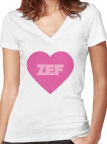 Die Antwoord Style ZEF Design. Women's Fitted V-Neck T-Shirt