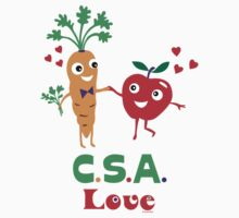 CSA Love - light (Community Supported Agriculture) One Piece - Long Sleeve