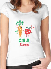 CSA Love - light (Community Supported Agriculture) Women's Fitted Scoop T-Shirt