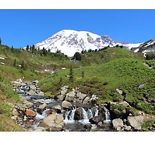 Beauty And The Beast - Mount Rainier Streaming Down by southshorepics