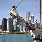 Chicago Skyline and Tall Ship by Frank Romeo