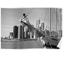 Chicago Skyline and Tall Ship Poster