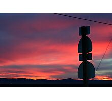 Antelope Valley Sunset, Lancaster California Photographic Print