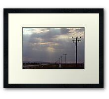 Route 58 at Boron, California Framed Print