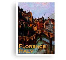Florence, Italy in Abstract  Canvas Print