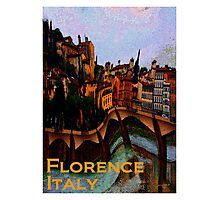 Florence, Italy in Abstract  Photographic Print