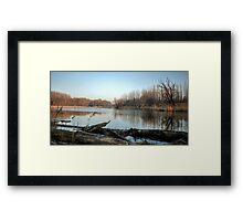 Sunny Morning On The Danube River Framed Print