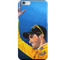Alberto Contador painting iPhone Case/Skin