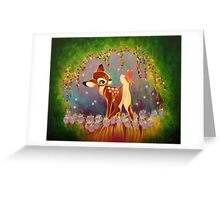 The Fawn and the Butterfly Greeting Card