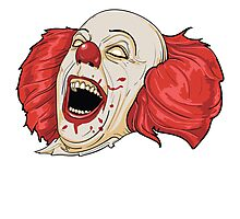 Evil Clown Photographic Print