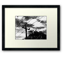 tele pole Framed Print