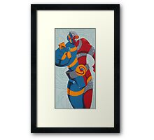 Super Android, Hero Framed Print