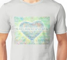 Inspirational Subliminal Art - Heart Chakra Opening Blue - Affirmations Unisex T-Shirt