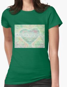 Inspirational Subliminal Art - Heart Chakra Opening - Affirmations Womens Fitted T-Shirt