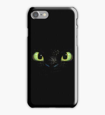 Toothless fiery eyes iPhone Case/Skin
