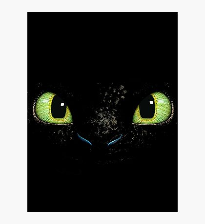Toothless fiery eyes Photographic Print