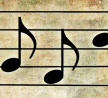 BASS Words in Music Earthy Background - a V-Note Creation Sticker
