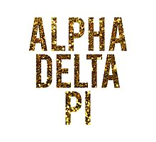 ADPi Gold Glitter Photographic Print