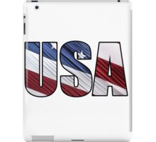 USA in Red White and Blue American Patriotic Flag iPad Case/Skin