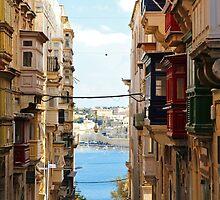 Balconies of Valletta 2 by Jasna