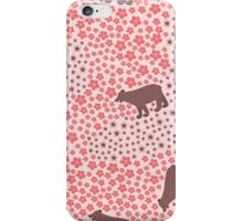 Big funny bear in the meadow  iPhone Case/Skin
