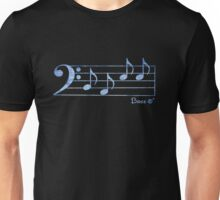 BASS Words in Music - Blue - a V-Note Creation Unisex T-Shirt