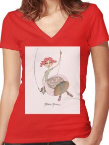 Swing Women's Fitted V-Neck T-Shirt