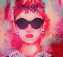 Audrey Hepburn Pop Art by Ryan Rydalch
