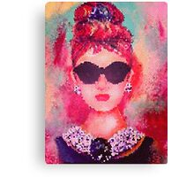 Audrey Hepburn Pop Art Canvas Print