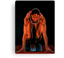 Allyson Felix painting Canvas Print