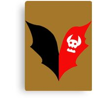 HTTYD Toothless Tail Heart Canvas Print