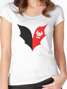 HTTYD Toothless Tail Heart Women's Fitted Scoop T-Shirt