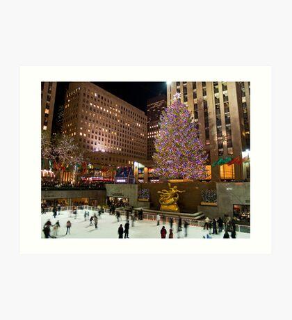Christmas Tree Rockefeller Center Art Print