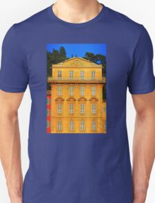 Beautiful ornate yellow building facade in Nice, Cote d'Azur, France T-Shirt