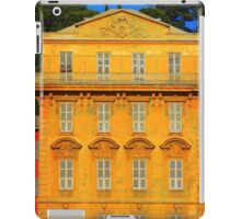 Beautiful ornate yellow building facade in Nice, Cote d'Azur, France iPad Case/Skin