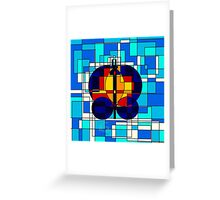 Geometric Butterfly  Greeting Card