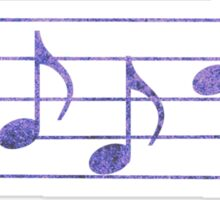 BASS Words in Music - Purple - a V-Note Creation Sticker
