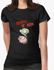Gir Beware of DOOM Womens Fitted T-Shirt