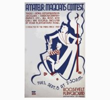 WPA United States Government Work Project Administration Poster 0226 Amateur Magicians Contest Roosevelt Playground One Piece - Long Sleeve
