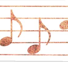BASS Words in Music - Rust - a V-Note Creation Sticker
