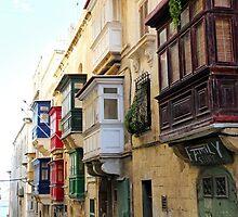 Balconies of Valletta 3 by Jasna