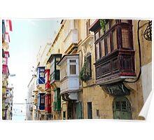 Balconies of Valletta 3 Poster