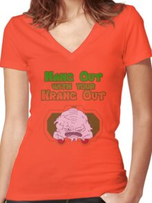 Hang out with your Krang out Women's Fitted V-Neck T-Shirt