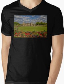 France. Paris. Luxembourg Palace and Garden. Mens V-Neck T-Shirt